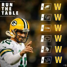 Packers Run the table Aaron Rodgers calling the shot delivering as promised playoffs