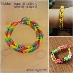 Rubber band bracelets-no loom needed!