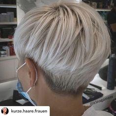 Short Silver Hair, Edgy Short Hair, Short Hair Undercut, Super Short Hair, Short Hair With Layers, Undercut Hairstyles, Short Hair Cuts For Women, Short Pixie Bob, Long Hairstyles