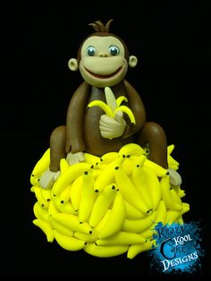 Hey, I found this really awesome Etsy listing at https://www.etsy.com/listing/104501475/monkey-on-mountain-of-bananas-cake