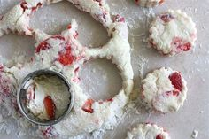 Strawberries and cream scones... this one has the right link to the recipe.