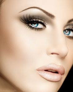 wow! amazing make-up eyes and lips....beauty and cosmetics (makeup)