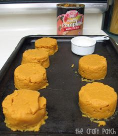 Does your favorite Fall pumpkin recipe only use half the can of pumpkin puree? This is a genius idea to deal with the leftovers!