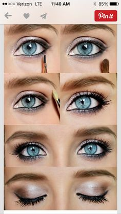 Great shade for blue eyes. Light application of heavy coal eyeliner makes it pop & standout. OETE ♡
