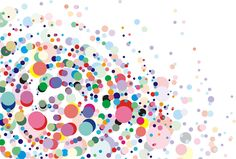 [Free material] illustrations, background, polka dot / dot, colorful, abstract image ID: 201401111900
