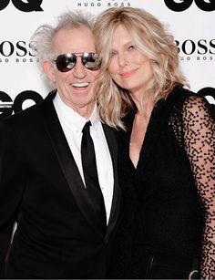 Keith Richards and wife Patti Hansen on winning the #LegendOfTheYear award last night at the GQ Awards