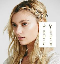 Silver Infinity Hair Clip New Uk Boho Boutique Festival Luxury Girls Party Gift