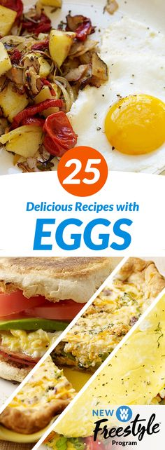 25 Mouthwatering Egg Recipes | Start your day feeling free with one of these meals using eggs (which are now 0 SmartPoints on WW Freestyle!)