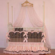 JoJo Crib Bedding   Chocolate and Pink Baby Bedidng