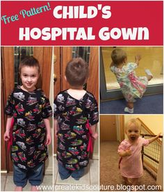 Create Kids Couture: Free Pattern: Child's Hospital Gown