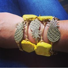 Pineapple Bourbon and Boweties bangles available online www.twocumberland.com with FREE SHIPPING!