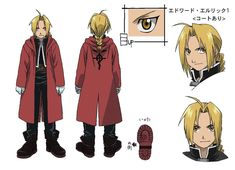 One of the most often asked about cosplay costumes we're asked to make is the Fullmetal Alchemist Edward Elric costume. Character Bio, Character Model Sheet, Character Design, Fullmetal Alchemist Brotherhood Characters, 鋼の錬金術師 Fullmetal Alchemist, Full Metal Alchemist, Winry And Edward, Edward Elric Cosplay, Otaku