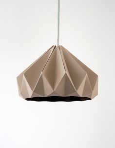 Chestnut paper origami lampshade Cardboard Brown by nellianna, €89.00