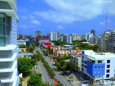 Santo Domingo city .  Vista de la Ave. Abrahan Lincol