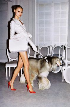 LSC|Style We Love- Red heels & long legs. Magdalena Frackowiak photographed by Walter Pfeiffer for Vogue Paris.  luxuryshoeclub.com
