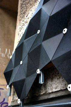 Carbon negative facade by Made of Air Architecture Design, Parametric Architecture, Parametric Design, Facade Design, Wall Design, Origami Architecture, Le Manoosh, Inspiration Design, Building Facade