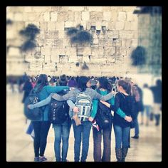 Instagram user Jenna Collins, @jennacollinss, Birthright 2011/12 trip at the Kotel.  #birthright #jerusalem #taglit
