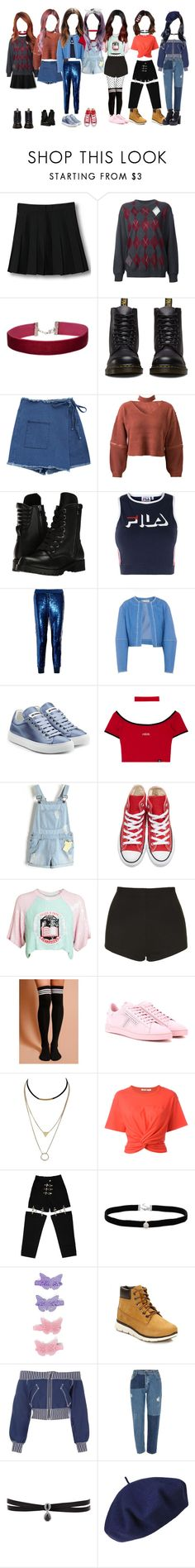 """""""[MV] I'll Be There"""" by princessmax ❤ liked on Polyvore featuring WithChic, Alexander Wang, Miss Selfridge, Dr. Martens, Capezio, Fila, Ashish, FLOW the Label, Jil Sander and Converse"""