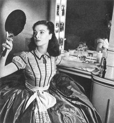 Vivien Leigh in her dressing room during the filming of Gone with the Wind, 1939 Photo by Louise Dahl-Wolfe. Originally published in Harper's Bazaar.