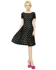 1950s Black Lace Dress.