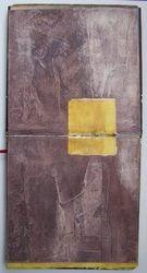 """Ce troisième carnet de la série """"I'm searching"""", est achevé. C'est le même support que le premier : double carré mais pris verticalement, donc des images de 28x14 cm. Je me suis fixée..."""