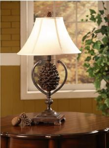 Pinecone Table Lamp Great Lodge Lamp. #Lamps #Lodgedecor