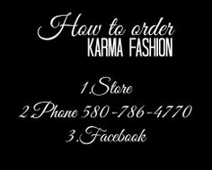 https://www.facebook.com/Karmafashionboutique