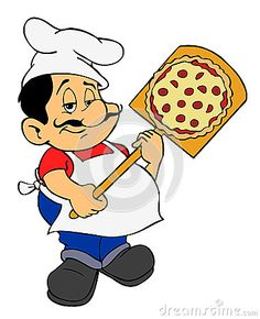 Illustration about Hand drawn,digitally painted cartoon pizza guy. Illustration of mascot, chubby, baking - 26533229 Cartoon Chef, Pizza Chef, Chef Kitchen Decor, Pizza Restaurant, How To Make Pizza, Food Humor, How To Draw Hands, Clip Art, Chefs