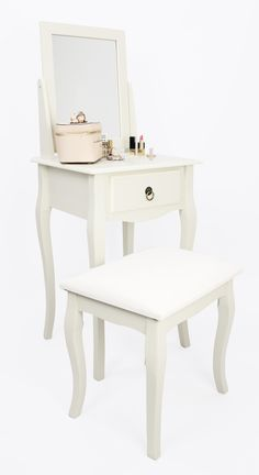 House and Homestyle Maria Grey Mirrored Dressing Table with Drawer