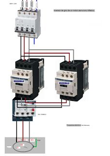 Esquemas eléctricos: inversor de giro de motor asincrono trifasico de p... Electrical Installation, Electrical Wiring, Electrical Engineering, Electrical Circuit Diagram, Hvac Repair, Electronics Projects, Arduino, About Engineering, Power Lineman