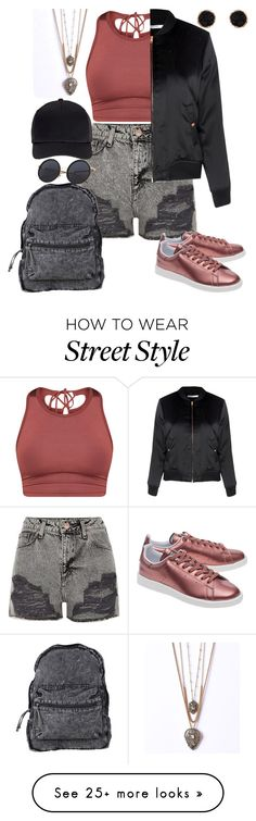 """""""Street style"""" by ayeeeitsfatso on Polyvore featuring River Island, Agent Ninetynine, Glamorous, adidas Originals, Humble Chic and Miss Selfridge"""