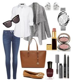 """Untitled #30"" by busrasencob on Polyvore featuring Deborah Lippmann, 7 For All Mankind, Steffen Schraut, Tory Burch, MICHAEL Michael Kors, Michael Kors, Bobbi Brown Cosmetics, Chantecaille, Georgini and Christian Dior"