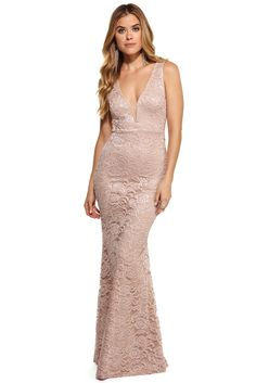 Felicia Natural Lace Formal Dress | WindsorCloud