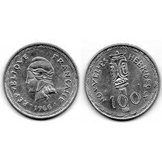 Moneda 1966 Nouvelles Hebrides Moneda 100 Francs de Plata Personalized Items, World, Coins, Stamps, Silver, Jewels