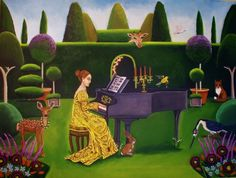 Classical Music Festival Commission, original painting by artist Catherine Nolin | DailyPainters.com