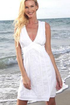 4b4d4f3534 Lirome White Organic Cotton Sexy V Neckline