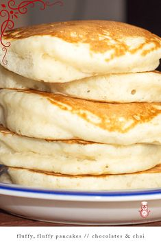 The BEST recipe for FLUFFY, FLUFFY, PANCAKES! Learn how to make these delicious super fluffy pancakes. No buttermilk is required for this pancake recipe! Fluffy Pancakes, Pancakes And Waffles, Best Pancake Recipe Fluffy, How To Cook Pancakes, Waffle Recipes, Baking Recipes, Pancake Recipes, Homemade Pancakes, Homemade Breakfast
