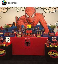 Spiderman Dessert table and Decor