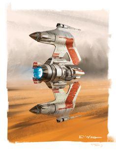 ArtStation - E-Wing Starfighter, Frédéric Bennett