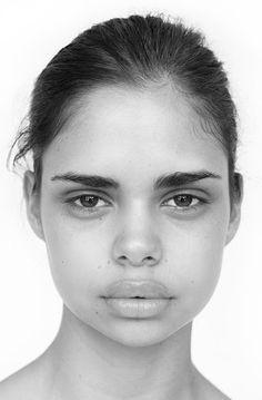 portrait of Aboriginal model Samantha Harris from photographer Hamish Ta-Me                                                                                                                                                                                 More