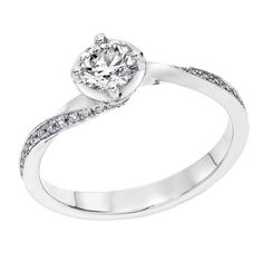 1/2 cttw IGI Certified Diamond Engagement Ring in 14K White Gold (1/2 cttw, J-K Color, I1-I2 Clarity) ** Trust me, this is great! Click the image. : Engagement Rings