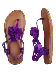 Jelly Flower T-Strap Sandals | Sandals & Wedges | Shoes | Shop Justice