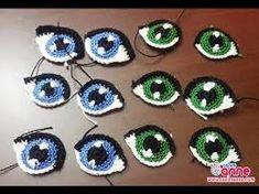 Resultado de imagen para ojos+tejidos+en+crochet