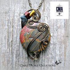 Picasso Jasper Wire Wrapped Pendant  As Gifted to Celebs of CMA Awards by CareMoreCreations.com, $49.00