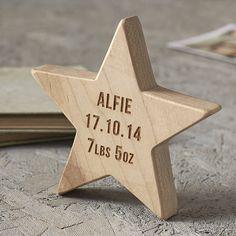 personalised baby keepsake wooden star by sophia victoria joy | notonthehighstreet.com