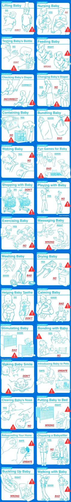 Instruction manual for first time parents.