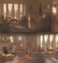 Nursery from Father of the Bride I loved everything about this room & their baby shower. Nursery Bedding Sets Girl, Baby Bedroom, Baby Room Decor, Girl Nursery, Nursery Decor, Babies Nursery, Royal Nursery, Babies Rooms, Bedroom Decor