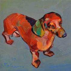 "Saatchi Online Artist claudio malacarne; Painting, ""bassotto rosso"" #art"