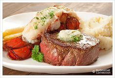 Surf and Turf Dinner for Two Recipe | MyGourmetConnection Well, I guess here is Brendon's Nov. 10th dinner request