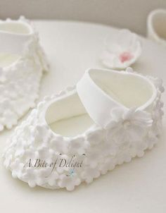 Bootie Christening Cake - A Bite of Delight